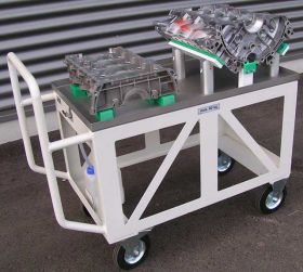 Bild 1: Hand trolley for  SPC station